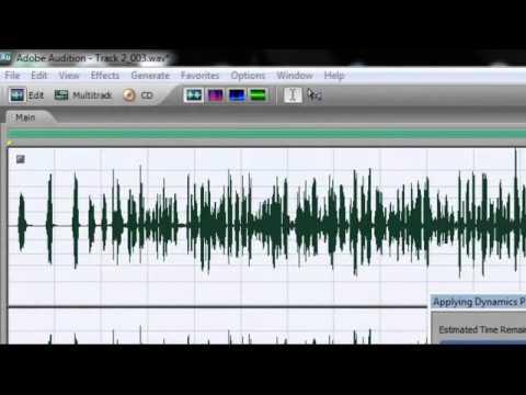 Advanced mastering steps w/ Adobe Audition 3.0