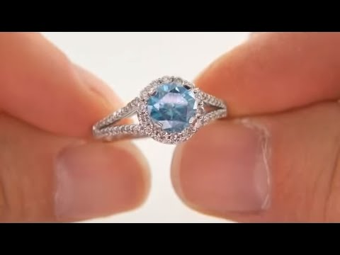 Estate 165 Carat Blue Diamond EngagementWedding Ring YouTube