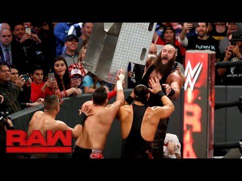 Braun Strowman destroys Darren Young, Bo Dallas and The Shining Stars: Raw, Dec. 26, 2016