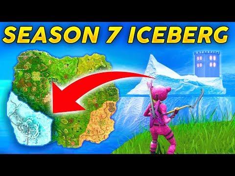 SEASON 7 NEW MAP LOCATION! - ICE BERG and SNOW STORM CASTLE (Fortnite Battle Royale) thumbnail