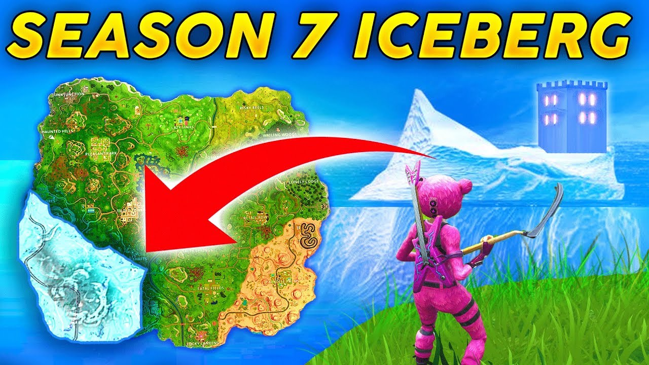 Season 7 New Map Location Ice Berg And Snow Storm Castle