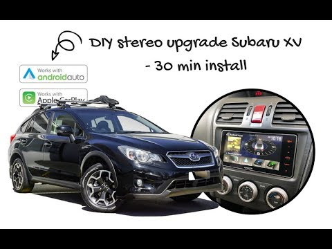 Diy How To Upgrade The Subaru Xv Stereo Includes Removal