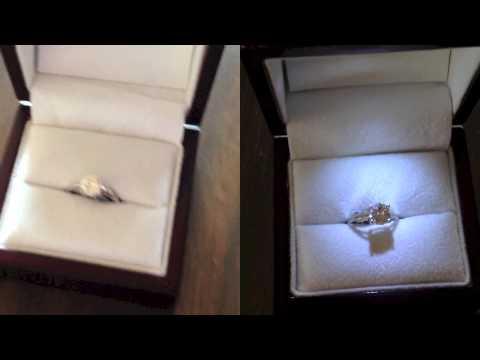Diamond Engagement Ring Box - Light v No Light - YouTube