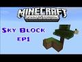 """Minecraft PE SkyBlock ep1 """"dva ostrva,drvo i cest"""""""