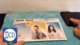 Aldi Talk - Unboxing und Registrierung