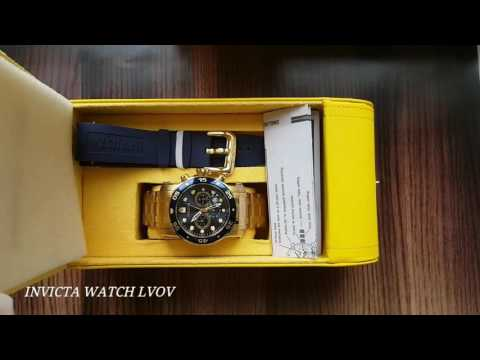 Мужские часы Invicta Scuba Pro Diver 23651 Gold Plated