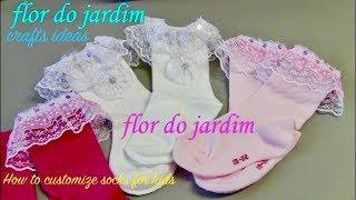 Como customizar meias para criança – DIY – customize socks