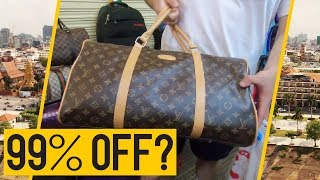 Cambodia FAKE Market SPREE - Buying LV for 99% OFF 😂