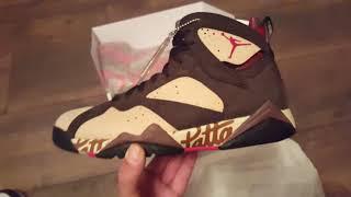 Nike air Jordan 7 x Patta, first look in hand