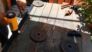 Como pegar/soldar lona con herramientas sencillas