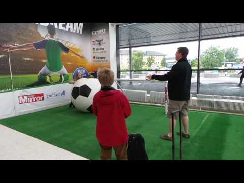 Giant football Belfast Int airport June 2016