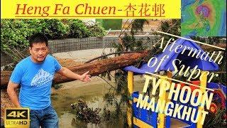 Hang Fa Chuen-HK-杏花邨 Destruction by typhoon MANGKHUT-颱風山竹香港-4K