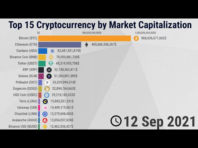 Top 15 Cryptocurrency by Market Capitalization - 2013 | 2021