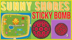 *NEW* Sunny Shores Location & Sticky Bomb/Grenade Weapon! | Zombs Royale.io