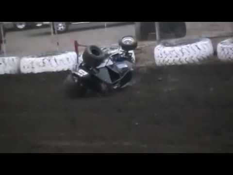 Wingless Sprint Car Crash @ Ocean Speedway 8/20/16