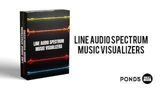 Line Audio Spectrum | Music Visualizers | New Audio Spectrum | OMER J GRAPHICS