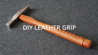 Making a Leather Grip // DIY Leather craft Tutorials