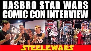 Hasbro Star Wars Comic Con Interview! Talking Clone Wars, Phantom Menace & intl Sail Barges SDCC