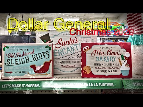 Christmas Decor 2020 At DOLLAR GENERAL • Come Look With Me!! 🎄
