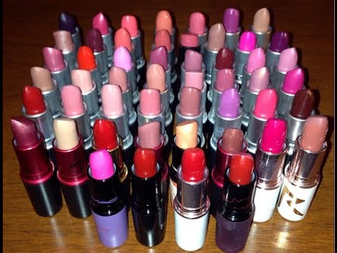 Mac lipstick collection with lip swatches youtube for Mac cosmetics diva lipstick