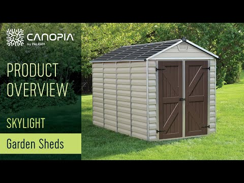 Palram Skylight Shed Your Garden Storage Space Youtube