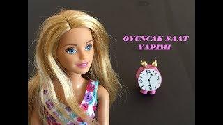 Eva Kağıdı İle Barbie Oyuncak Saat Yapımı - Minyatür Oyuncak - Barbie Miniature Table Clock