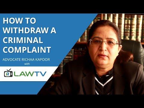 Indian Kanoon - How to withdraw a criminal complaint - क्रिमिनल कंप्लेंट कैसे वापस ली जाये - LawRato