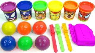 Making 3 Colors Play Doh Ice Cream Trolls LOL Surprise toys PJ Masks Kinder Surprise Eggs