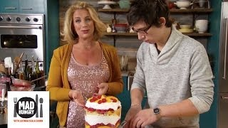 Christmas Peach And Raspberry Trifle Dessert - Mad Hungry With Lucinda Scala Quinn