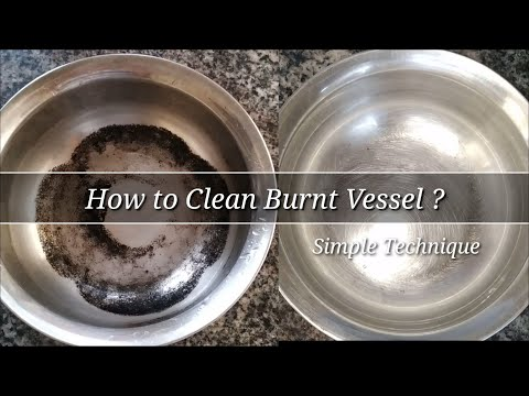 How to Clean Burnt Vessel || Kitchen Hacks || Simple Cleaning Technique
