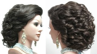 Hairstyle for long hair tutorial. Bridal updo step by step