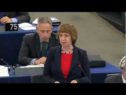 Catherine Ashton - Statement on Egypt (Part 2), European Parliament, 11 September 2013