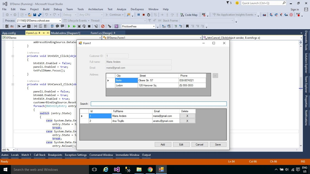 C Tutorial Insert Update Delete Into Multiple Tables In Sql