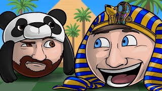WELCOME TO KING TUT'S NUT HUT!! - Golf with Friends Funny Moments w/ BigJigglyPanda