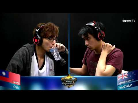 Chilly vs Friedchicken   Hearthstone World Championship 2015 Asia Pacific Group B   HS Esp