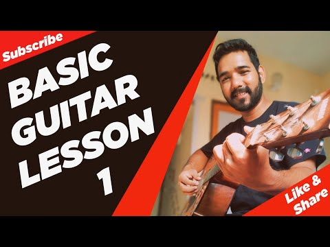 Basic Guitar Lesson 1 for Beginners in (Hindi) by | Acoustic Pahadi |