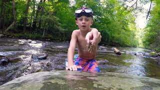 First Time Finding A One Armed Crawdad During Smoky Mountain Treasure Hunt!! Barehanded Hunting!
