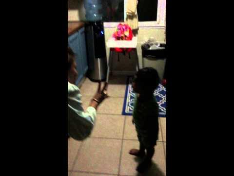 Brannen singing his own birthday song