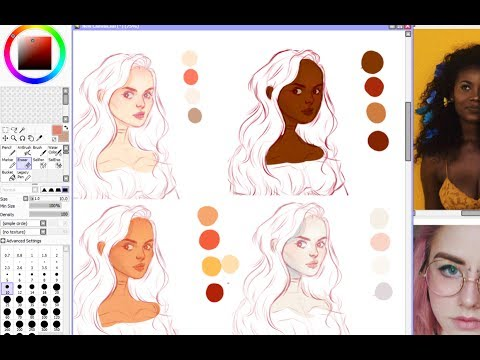 Skin Coloring Tutorial | Digital painting - YouTube