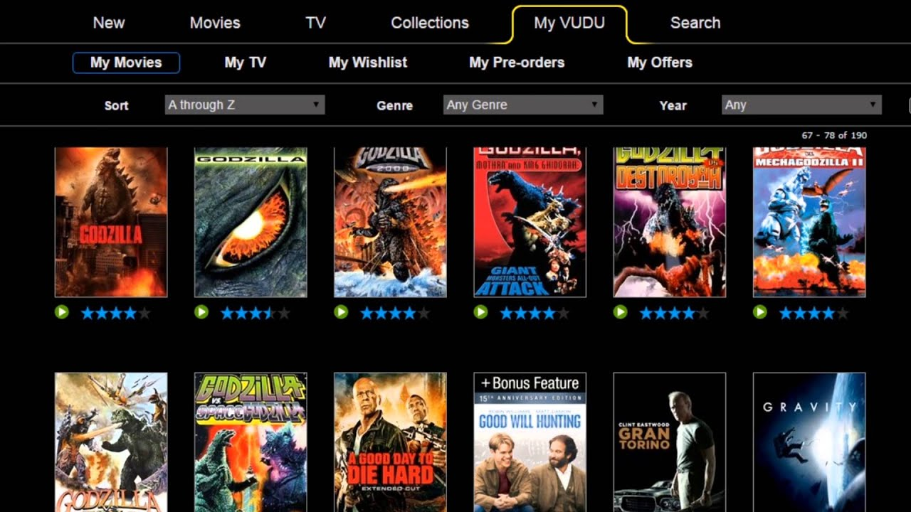 Download My VUDU Collection 1-20-16