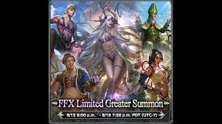 Mobius FF(GL) - Final Fantasy X LIMITED Banner Review - PULL or SKIP?!