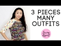 Handmade Wardrobe: Many Outfits from 3 Basic Pieces   Boardwalk Delight Fabric   SEWING REPORT