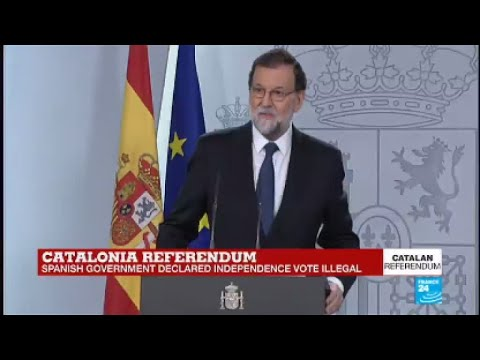 "Catalan Referendum: ""a mockery of the very essence of democracy,"" says Rajoy"