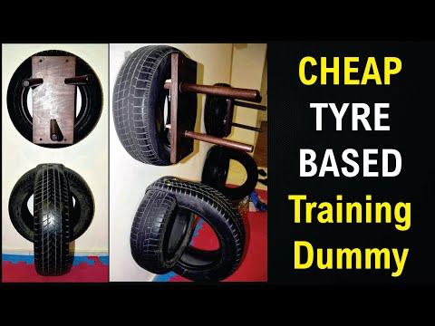 Jeet Kune Do (JKD) - Wooden Dummy Training (Cheap Tyre Based Training Dummy)