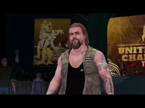 Wolfgang Young CAW 2k17 entrance at WWE UK Tournament
