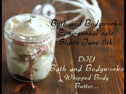 DIY Bath and Bodyworks Whipped Body Butter