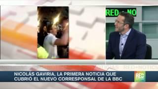La de Nicolás Gaviria fue la primera noticia que cubrió el nuevo corresponsal de la BBC en Colombia