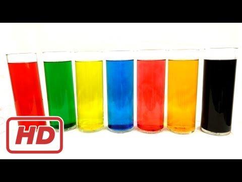 아이 들, 유아를 위한 혼합/재미 색상 실험에 의해 착 색 된 물/만들기 색상으로 색상을 배울