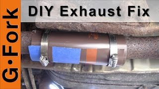 diy exhaust pipe repair gardenfork