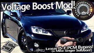 Voltage Boost Mod - Lexus IS-F PCM Alternator Sensor Bypass - Finally got JUICE! No Battery Light!